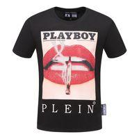 diseños de camisetas pequeñas al por mayor-19SS Moda de verano camiseta algodón mezcla pequeño cuello redondo de calidad superior diseño de los hombres camiseta casual ropa de mujer envío gratis 2D