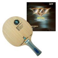 tischtennis gummi pro großhandel-Pro Table Tennis Combo Paddel / Schläger: RITC729 C-3 Blade mit 2x General Rubbers Shakehandlong Griff FL