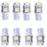 зеленые светодиоды для автомобилей оптовых-100шт T10 5SMD Авто Светодиоды для авто Светодиоды супер яркий габаритный свет T10 194 W5W 5050 Клин Лампа 5SMD DC 12V