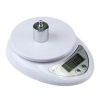 dieta de escalas al por mayor-5000 g / 1 g Escala electrónica LED Alimentación dietética Cocina digital Balanzas de medición Balanzas electrónicas de balanza de pesaje KKA7092