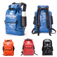 Wholesale waterproof swim bag for women for sale - Group buy 4 Colors Fashion Waterproof Backpack For Women Storage Outdoor Bag Sack Large Capacity For Traveling Camping Kayaking Hiking Free DHL M246Y