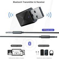 tv bluetooth adaptörü toptan satış-Bluetooth 5.0 Verici Alıcı Mini 3.5mm AUX Kablosuz Bluetooth Stereo Adaptör İçin Araç Müzik Bluetooth Verici Tv Araçları için HHA106