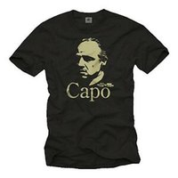 Wholesale red capo for sale - Group buy Retro Mafia Gangster Shirt T Shirt mit Godfather Capo Männer Pate Film Shirt