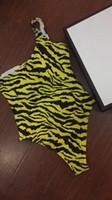 um pedaço swimsuit tigre venda por atacado-Mulheres One Piece Maiô Outfits O Corpo Inteiro Listras Tigre Impresso Designer Swimsuit Moda Sexy Lady BIKINI Swimsuit
