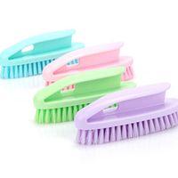 plastik çamaşırlar toptan satış-Plastik Ev Işi Temizleme Fırçası Çok Amaçlı Plastik Ev İşleri Plastik Çamaşır Yıkama Ayakkabı Fırçası Karışık Tricolor Opp Torba 57