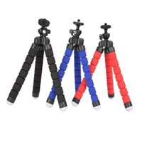 Wholesale flexible tripods online - 3 col Flexible Tripod Holder For Cell Phone Car Camera Universal Mini Octopus Sponge Stand Bracket Selfie Monopod Mount With Clip by dhl