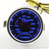 Wholesale blue car gauges resale online - Universal mm Car Tinted Turbo Turbine Boost Gauge Turbo meter Blue backlight