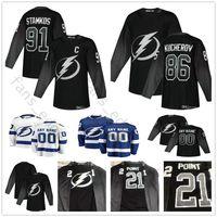 Custom 2019 New Black Third Tampa Bay Lightning Hockey 27 Ryan McDonagh 77  Victor Hedman 24 Ryan Callahan 88 Andrei Vasilevskiy Jerseys 4fa419bea