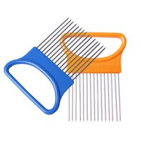 Wholesale kitchen aid resale online - Kitchen Onion Slicer Cut Onion chopper Holder Fork Tomato Vegetable Slicer Cutting Aid Guide Fruit Cutter Cooking Accessories