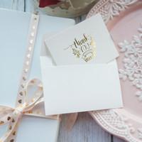 конверты визитные карточки оптовых-мини спасибо карты золото с белым конвертом скрапбукинг партия пригласительные открытки поздравительные открытки визитная карточка