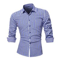 Wholesale plus size house dress for sale - Group buy YJSFG HOUSE Brand Fashion Men s Striped Shirts Long Sleeve Slim Dress Shirts Casual Male Single Breasted Plus Size Tops