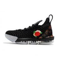 zapatos altos 16 al por mayor-2019 El más nuevo Lebron 16 Zapatillas de baloncesto James 16 Marca Zapatillas deportivas de moda Zapatillas de deporte de corte bajo cómodas de alta calidad