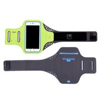 telefon için bisiklet tutacağı toptan satış-Koşu Egzersiz Telefon Tutucu Doğa Sporları Çantası Anahtar Kol bandı Vaka Darbeye Koşu Spor Ayarlanabilir Hafif Cycling koruyun