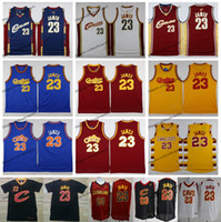 Wholesale basketball shirt james for sale - Group buy Vintage Mens Cleveland LeBron James Cavaliers Basketball Jerseys Cheap Blue Red White LeBron James CAVS Stitched Shirt S XXL