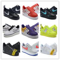 кроссовки мужские мягкие оптовых-nbspNIKE AIRnbspFORCEnbspAF1 2019 спортивная обувь для бега низкая совместно бортовая обувь для мужчин и женщин открытый кроссовки размер 36-45