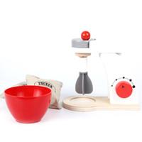 juguetes de cocina para niños al por mayor-Nuevo 1 Unidades Juguete de madera Juego de imaginación Cocina Pulido Máquina de cocina Girls Boy Mini Pretend Toy Juicer Housekeeping Regalo D79