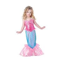 bikinis 12 años al por mayor-Lovely Baby Girls Ropa para niños Bikini de verano Cottton Novedad Sirena Cola traje de baño Princesa Cosplay 4-12 años