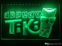 luces tiki bar al por mayor-S092b- Freaky Tiki Bar Máscara Pub Beer muestra ligera llevada