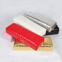 manikür pedi toptan satış-Sıcak Manikür El Yastık El Pad ile Su Geçirmez Yumuşak PU Deri Çiviler Aracı Rastgele Renk SJ66