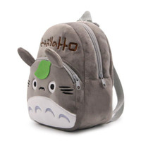 bebek varış hediyeleri toptan satış-Yeni varış 100% 21 * 23.5 CM Pamuk Pikachu Komşum Totoro Mini Okul Çantası Peluş Sırt Çantaları Bebek hediyeler Için ZQW-A