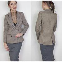chaquetas ol al por mayor-Moda de doble botonadura Blazer de tela escocesa de las mujeres de manga larga delgada Ol Blazer Casual chaqueta de otoño Blazer para mujer