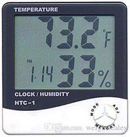 цифровой жк-гигрометр часы термометр оптовых-Цифровой ЖК-Гигрометр Температуры Часы Влажность Термометр с Часы Календарь Будильник HTC-1 100 штук вверх