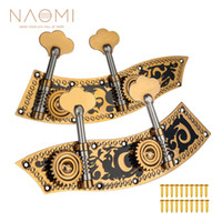 Wholesale tune machine for sale - Group buy NAOMI Plate Machine Heads W Tuning Pegs Each Bass Machines W Carving Flower Inlay For Double Bass New