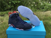 Top Quality 6 DB Doernbecher Man Basketball Designer Shoes Newest VI Midnight Navy White Varsity Red Metallic Gold Fashion Trainers With Box
