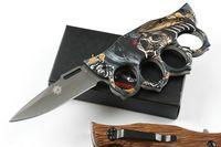 beste taschenmesser für geschenk großhandel-X71 Knuckle Duster Tactical Klappmesser Titan Beschichtung Schnell Open Outdoor Camping Jagd Überleben Tasche Rettungs EDC Werkzeuge Beste Geschenk