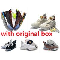 oreo sneakers à vendre achat en gros de-Mens ce que le lebron 16 XVI chaussures de basket à vendre 16s MVP Noël BHM Oreo jeunes enfants génération baskets bottes avec boîte d'origine