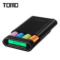 li iphone venda por atacado-Banco esperto do poder de TOMO M4 DIY 4 x 18650 carregador de bateria do Li-íon