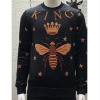 Wholesale famous clothing brands for men online - 2019 spring new fashion arrival star king bee print letter sweatshirts jumper for men designer clothing famous brand cotton