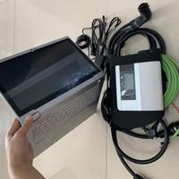 mb estrela computador para benz venda por atacado-MB Estrela C4 SD C4 compacto 4 V03 / 2019 s-sd cf-ax2 8G i5 usado computador portátil auto Scanner para Mercedes ferramenta de Diagnóstico