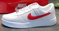 büyük olanlar toptan satış-2019 Yüksek Kaliteli Moda Zorlama CORK Erkek Kadın Tek 1 Rahat ayakkabılar yüksek Düşük Kesim Tüm Beyaz Siyah Kahverengi Renk Rahat Sneakers büyük Boy 36-46
