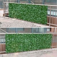 vallas de panel al por mayor-3 Metros Artificial Madera de buey Cobertura Privacidad Hiedra Cerca Jardín exterior Decorativo Plástico Enrejado Paneles Plantas