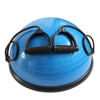 Wholesale 55cm fitness ball resale online - PVC and ABS Yoga Ball Balance Ball Hemisphere Fitness Massage Effect for Gym Office Home Blue