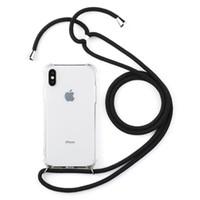 черный чехол для телефона бабочки оптовых-Мобильный телефон цепи защитный чехол для мобильного телефона чехол для мобильного телефона сумка ожерелье ремешок Crossbody в премиум качества iPhone 5 X XR XS max