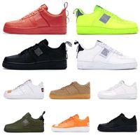 erkekler düşük kesim basketbol ayakkabıları toptan satış-Nike Air Force 1 En Dunk 1 erkekler kadınlar moda platformu sneakers programı siyah üçlü beyaz volt kırmızı zeytin Keten yüksek düşük kesim erkek basketbol kaykay ayakkabı