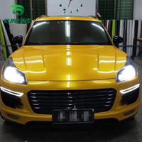 envoltura de vinilo amarillo al por mayor-Car Styling Wrap Metal maple yellow Car Vinyl film Body Sticker sticker Con burbuja libre de aire para piezas de tuning de motocicletas