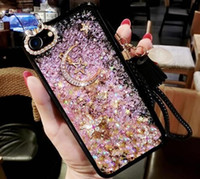 Wholesale lighted cell phone cases online – custom Fashion Popular Moon and Star Quicksand Cell Phone Case For XS XR XS MAX plus samsung S8 S9 note