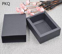 ingrosso confezione regalo macaron-Blank elegante nero biscotto carta Gift Box Kraft Macaron snack al cioccolato Dolce Candy Packaging Scatole per sapone Imballaggio