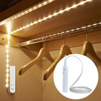 appliques murales pour enfants achat en gros de-Veilleuses de LED avec capteur de mouvement allumant la lampe de mur étanche Cabinet escaliers induction LED pour enfants