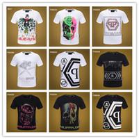 mangas de serpiente camiseta al por mayor-2019 Nueva camiseta de algodón de verano Floral serpiente bordado moda manga corta camiseta hombres marca camiseta hombre de lujo homme # 8865998