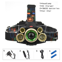 Wholesale power zoom headlamp resale online - 5 LED Headlamps Lumens High Power LED Headlight T6 Q5 Camping Head Torch Zoom Modes Head Lantern x18650 Frontal Lamp