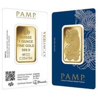 ingrosso oro 5g-5g / 10g / 1 oz Gold Bar PAMP Suisse Lady Fortuna Veriscan Copia di alta qualità Bar placcato oro Regali aziendali Artigianato in metallo