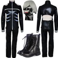 Tokyo Ghoul Cosplay Costumes Kaneki Ken Cosplay Costumes Hoodie Jackets Black Fight Uniform Full Set With Mask