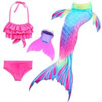 ingrosso costumi sirena bambino-Coda di sirena per bambini con ragazze Costumi per bambini Costumi da bagno Cosplay Costumi da bagno Sirenetta da nuoto
