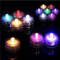 decoraciones de la fiesta del té al por mayor-luz de la vela LED de energía de la batería Luces de Té a prueba de agua sumergible del banquete de boda de la vela Decoración de Navidad de alta calidad de la decoración de la luz