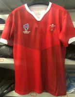 ingrosso dimensione della tazza per gli uomini-2019 maglie da rugby del Galles del mondo di rugby Home Camicie magliette migliori maglie di rugby del Galles magliette rosse da uomo taglia S - 3XL