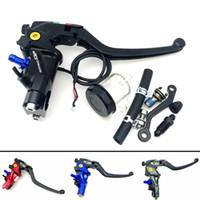 Wholesale cnc levers kawasaki resale online - CNC RCS Motorcycle Brake Master Cylinder Cable clutch Radial Brake Pump mm Universal For Honda Yamaha Kawasaki Suzuki